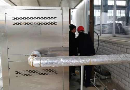 四川天府某科技公司安装1台热源机